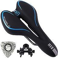 Pioneeryao Bike Saddle Professional Mountain Bike Gel Saddle MTB Bicycle Cushion (Blue)
