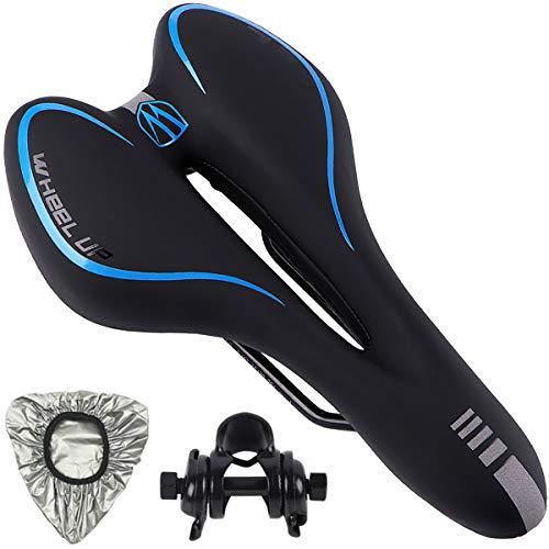 Pioneeryao Fahrradsattel Gel Fahrrad Sattel Hohl Ergonomisch Fahrradsitz Mountainbikesättel Tourensattel für Mountainbike MTB Rennrad Herren Damen (Blue)
