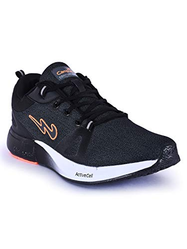 Campus Men's Camando Blk/Org Running Sport Shoe-9 UK/India (43 EU) (5G-613-BLK/ORG-9)
