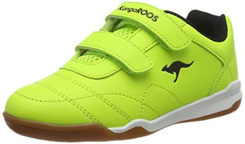 KangaROOS Unisex-Erwachsene Courtyard V Sneaker, Gelb (Neon Yellow/Jet Black 7013), 39 EU