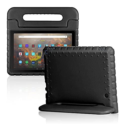 Foluu Funda para tablet Kindle Fire HD 10 y 10 Plus (11ª generación, 2021), a prueba de golpes con soporte para Amazon Fire HD 10 Tablet 11ª Generación (negro)