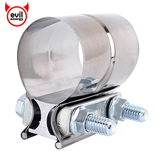 """Aluminized Steel for 5/"""" OD to 5/"""" OD Exha... 5/"""" Butt Joint Exhaust Sleeve Clamp"""