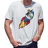GameStop to The Moon Camiseta de Hombre Blanca Size XL