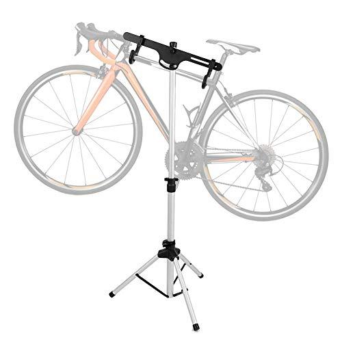 Cavalletto da officina per riparazione biciclette, Cavalletto per riparazione bici, Cavalletto da lavoro meccanico per biciclette portatile da casa, Rack di manutenzione pieghevole Portabici