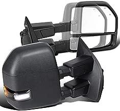 For Ford F250 SuperDuty Power Heated BSM Temp Sensor Tow Mirrors+Smoke LED Signal