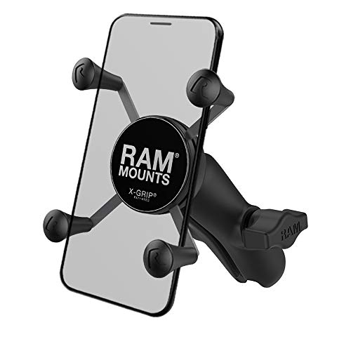 RAM MOUNTS X-Grip Phone Holder with Composite Double Socket Arm