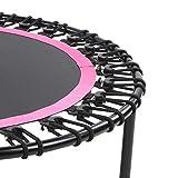 SUCIE Workout Max Load 550lbs Trampolin mit Handlauf Übungstrampolin, faltbares 40in Trampolin, Rose Red für Outdoor Indoor