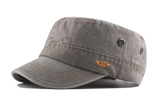 FOOKREN Herren Armeekappe Militärmütze Baseball Cap Verstellbar Kappe Sport Basecap (Grau)