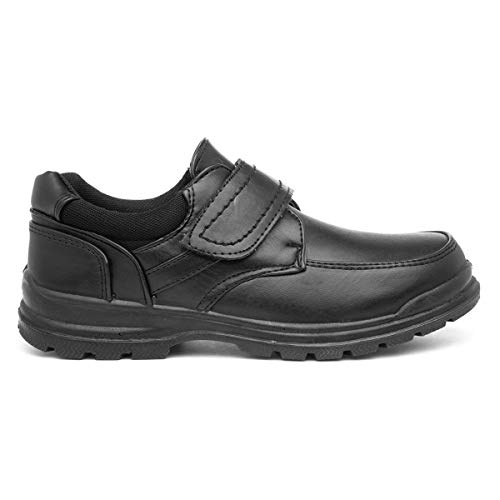 Trux Boys Black Shoe Size 8 to Adult Size 6 - Size 11 Child UK - Black