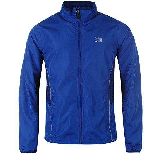 Karrimor Mens Running Jacket Jogging Long Sleeve Zip Fastening Coat Top Blue/Blue XX Large