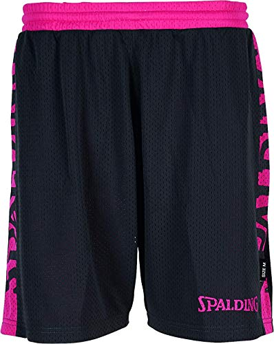 Spalding Damen Essential Reversible Shorts 4HER Hose, Anthra/pink, M
