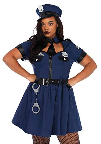 Leg Avenue Women's Costume, Blue, 1X / 2X