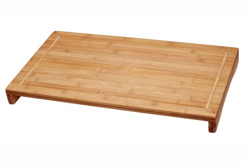 Lipper International Bamboo Wood Over-The-Sink/Stove Kitchen Cutting and Serving Board, Large, 20-1/2' x 11-1/2' x 2'