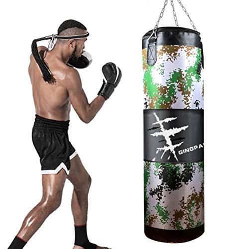 WUYOU Boxsack Für Boxtraining, Canvas Camouflage Hollow Sandsack, Fitness Training Sandsack, MMA Martial Arts Taekwondo Sandsack-100cm (Size : 80cm)