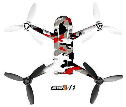 Sticker Camo Rouge pour Drone Bebop 2