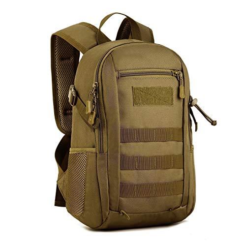 Selighting 12L/20L Militär Rucksack Wasserdichter Taktischer Wanderrucksack für Camping Trekking Outdoor (Braun)