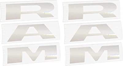 Reflective Concepts 2019-2020 RAM Door Emblem Overlay Decal Stickers - (Color: Reflective Light Silver)