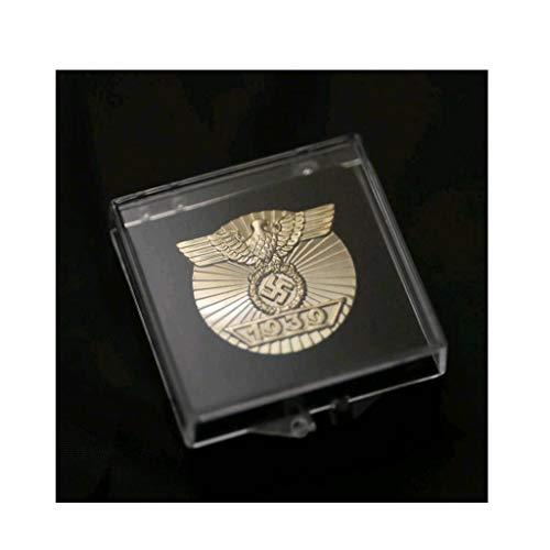 JXS Réplica de Orden Militar Alemana, 1939 Medalla Cruz de Hierro, Insignia de aleación, colección de medallas de aleación de Fans Militares