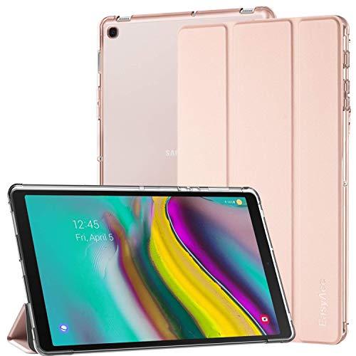 EasyAcc - Custodia Compatibile con Samsung Galaxy Tab S5E, Ultra Sottile con Funzione Leggio in Pelle PU Compatibile con Samsung Galaxy Tab S5E T720 T725, Oro rosa