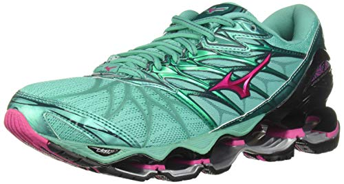 Mizuno Women's Wave Prophecy 7 Running Shoe, Billard/Pacific, 10 B US