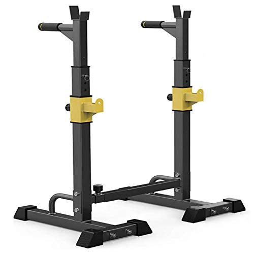Adjustable Barbell Rack,Dipping Station Weight Bench Press Stand Squat Stand Equipment,Squat Rack Stand Power Weight Bench Support,Max Load 250Kg(Air Freight)