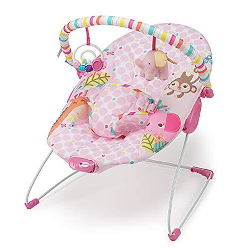 SHARESUN Baby Bouncer Rocker - con Vibraciones relajantes y Caja Musical Silla con Asiento Giratorio para bebés y niños pequeños con 3 Juguetes Colgantes