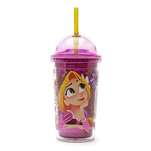 Disney Parks Rapunzel Tangled bombato 340 ml Bicchiere con cannuccia.