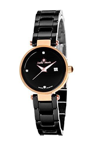 Stella Maris Damen Analog Quarz Uhr mit Keramik Armband STM17H8