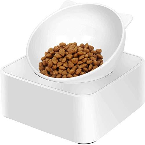 CeMieux Futternapf Katze Erhöhtem Ständer Futternäpfe Katzenfutter Gegen Verschütten, Magnetdesign 0-30 ° Verstellbarer, spannungsfreier Nackenschutzanzug Pet Feeder Bowl für Katzen und kleine Hunde