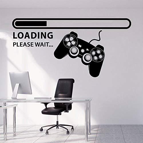 Video Game Zone Logo Caricamento Barra di avanzamento Gamepad Joystick Controller Wall Sticker Decalcomania del vinile Ragazzo Camera da letto Soggiorno Sala giochi Club Studio Home Decor Murale
