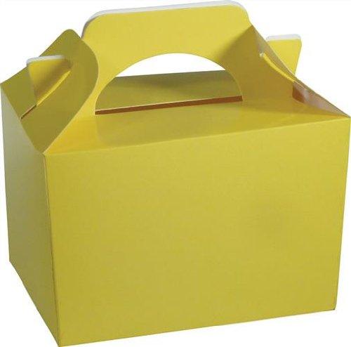 10 Pk gele kinderen Lunch Boxen Afhaaldag Verjaardag Bruiloft Cake Maaltijd Voedsel Boxen Feestzakken