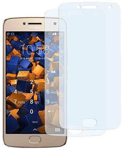 mumbi Schutzfolie kompatibel mit Lenovo Moto G5 Plus Folie klar, Bildschirmschutzfolie (2X)