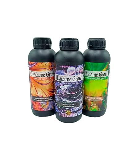 KIT RED ANVIL - Fertilizantes Orgánicos para Marihuana o Cannabis - Floración, Engorde y Energía - Plastas Fuertes - Cosechas Abundantes (3 unidades) (1 L)