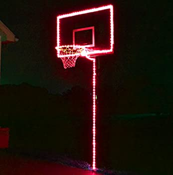 GlowCity Light Up Basketball Hoop Lighting kit Light Up Basketball Not Inlcuded   Red