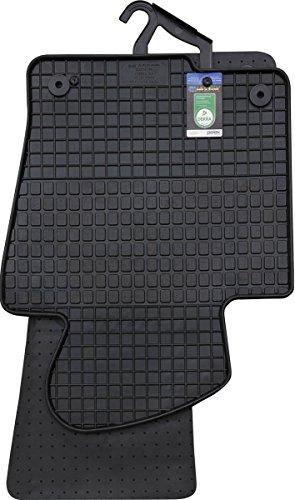 PETEX Gummimatten passend für Passat alle Modelle ab 03/2005-10/2010 / Passat alle Modelle ab 11/2010-10/2014 / CC ab 02/2012-11/2016 Fußmatten schwarz 4-teilig