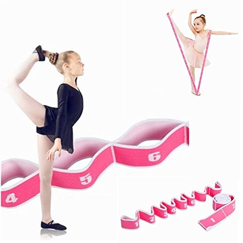 WowDude Latest Children's Dance Training Elastic Band Stretching Straps Multi Loops Adjustable Exercise Bands Elastic Exercise Band Leg Exercise Yoga Equipment for Home Workouts-8 Loops