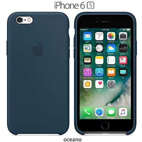 Funda Silicona para iPhone 6 y 6s Silicone Case, Calidad, Textura Suave, Forro Interno Microfibra (Oceano)