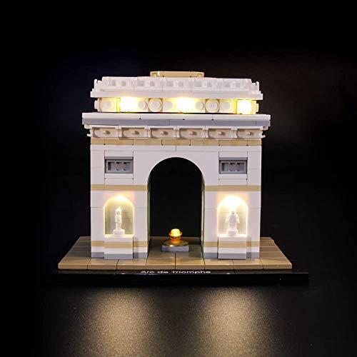 PPTOOL LED-Beleuchtungsset für LEGO Architektur Arc de Triomphe- kompatibel mit LEGO 21036 Baustein-Modell- nicht enthalten das LEGO Set