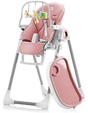 Justerbar, vikbar, barnstol med leksaksbåge – barnstolar med 7 olika höjder, justerbart säte med 5 olika positioner – höga stolar, avtagbar bricka, torka ren, bekväm