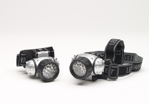 Sport Zone – Lampe frontale 23 LED - 4 modes d'éclairage - Duo Pack – Piles fournies