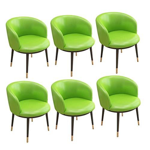 MNBV Juego de sillas de Comedor de Cuero Muebles de recepción de Lujo Asiento Acolchado Silla de Oficina innovadora Sillas de bañera Restaurante Hotel Sala de reuniones Silla (Color: D)