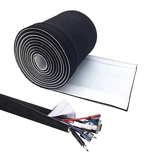 2.03M Ajustable Organizador Cable Neopreno Brida para Cable Manguito Cable Cortable Flexible...