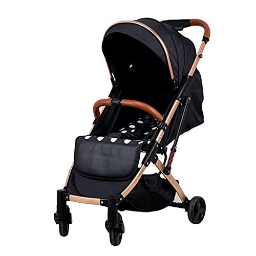 HZPXSB Ultra-Lightweight 2 en 1 Cochecito de bebé con Asiento de Coche PRAM Puede Estar en pleno Paraguas carros Plegable bebé carros (Color : Mickey)
