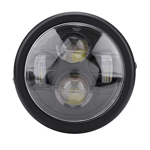Motorfiets koplamp, 6.5inch Motorfiets koplamp Motorfiets 12V LED lamp koplamp koplamp universeel(Zwart)