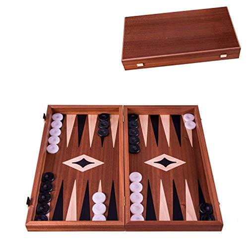 Manopoulos Mahony' Backgammon Set – 38 x 20 cm – Lusso gammon in legno con pietre di perle