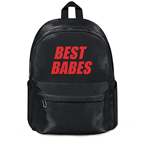 Best Babes Red Letter Print Bag Purse Casual Nylon Durable Travel Daypack Backpack College Bookbag