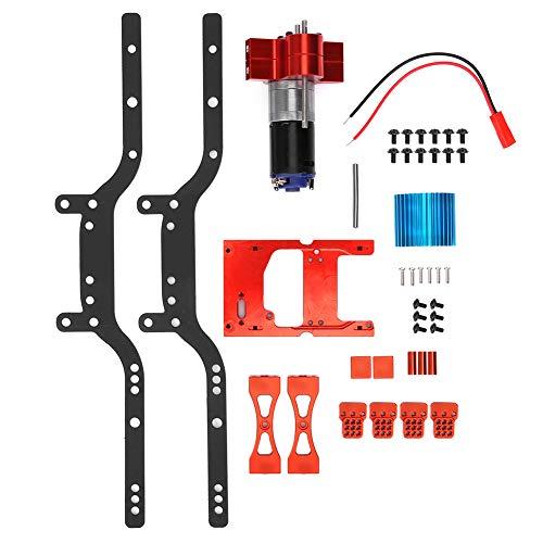 Ongoion Kit de Marco de Metal, Motor de Coche RC Resistente al Desgaste, viga de Marco de Metal Aspecto Exquisito para Coche RC MN90 Accesorio para Coche RC Piezas de Coche(Red)