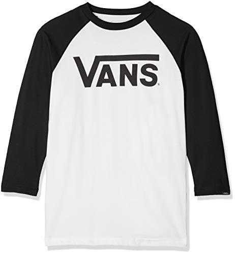 Vans Classic Raglan Camiseta, Blanco (White-Black Yb2), 128 (Talla del Fabricante: 128 S) para Niños