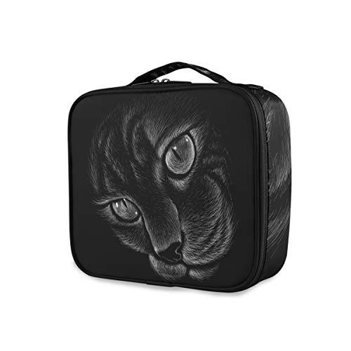 Nachtlampje dier kat coole make-up tas draagbare opberggereedschap cosmetische tas tas tas reizen