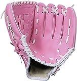 ZYYRSS Guante de béisbol Guantes deportivos de bateo con guantes de softball de lanzador de espesamiento 12.5 pulgadas para jóvenes adultos Guante (Rosado)